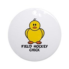 Field Hockey Chick Ornament (Round)