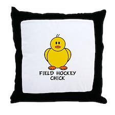 Field Hockey Chick Throw Pillow