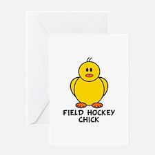 Field Hockey Chick Greeting Card