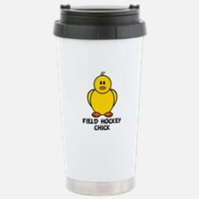 Field Hockey Chick Stainless Steel Travel Mug