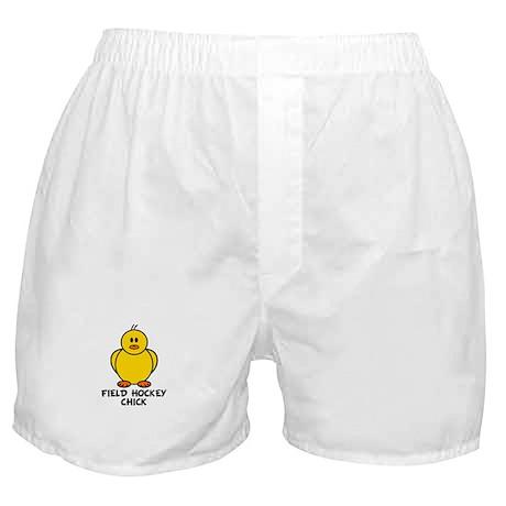 Field Hockey Chick Boxer Shorts