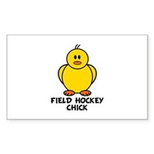Field Hockey Chick Rectangle Decal