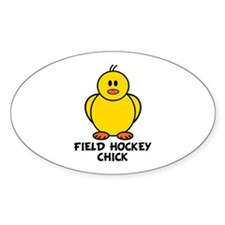 Field Hockey Chick Oval Decal