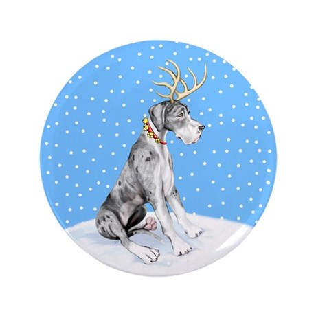 "Great Dane Deer Merle UC 3.5"" Button"