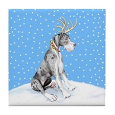 Great Dane Deer Merle UC Tile Coaster
