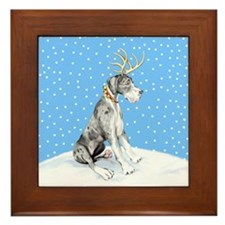 Great Dane Deer Merle UC Framed Tile