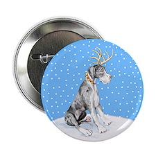 "Great Dane Deer Merle UC 2.25"" Button"