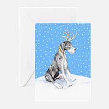 Great Dane Deer Merle UC Greeting Cards (Pk of 10)