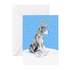 Great Dane Deer Merle UC Greeting Cards (Pk of 20)