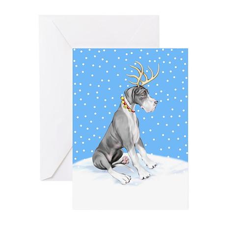 Great Dane Deer Mantle UC Greeting Cards (Pk of 10
