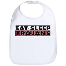 Eat Sleep Trojans Bib