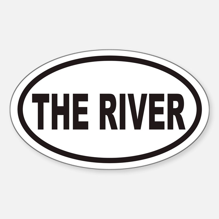THE RIVER Euro Oval Decal