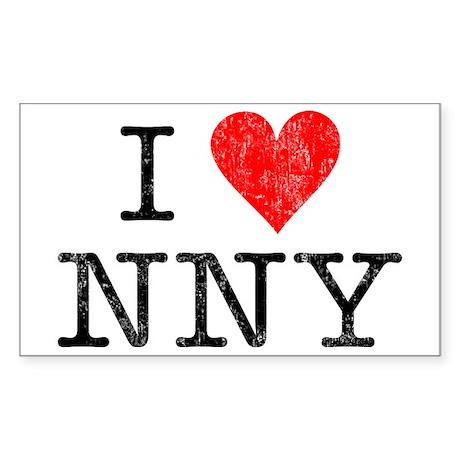 I LOVE NEW NEW YORK Rectangle Sticker