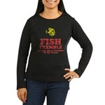 Fish Tremble Women's Long Sleeve Dark T-Shirt