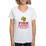 Fish Tremble Women's V-Neck T-Shirt