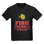 Fish Tremble Kids Dark T-Shirt