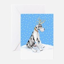 Great Dane Deer Harle UC Greeting Cards (Pk of 10)