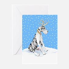 Great Dane Deer Harle UC Greeting Cards (Pk of 20)