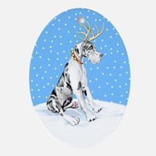 Great Dane Deer Harle UC Oval Ornament