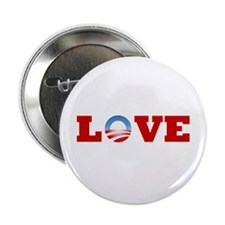 """OBAMA LOVE 2.25"""" Button"""