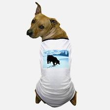 Black Bear in Snow Dog T-Shirt