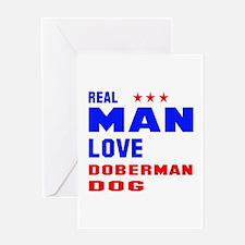 Real Man Love Dalmatian Dog Greeting Card