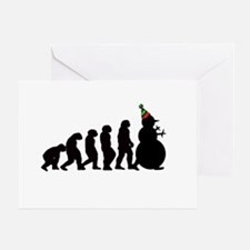 Evolution of Snowman Greeting Card