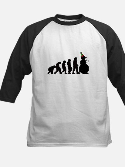Evolution of Snowman Kids Baseball Jersey