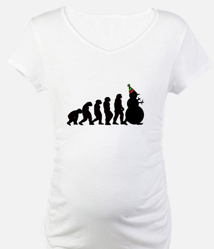Evolution of Snowman Shirt