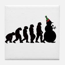 Evolution of Snowman Tile Coaster