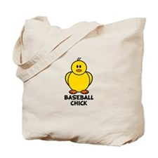 Baseball Chick Tote Bag
