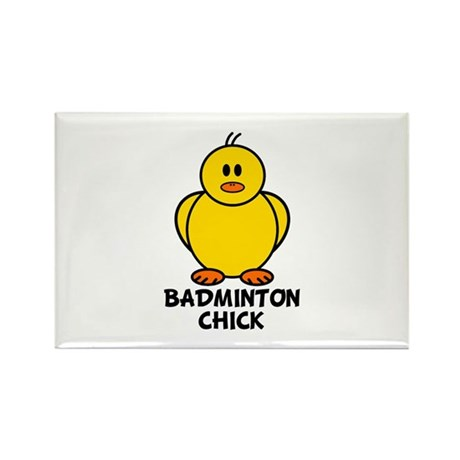 Badminton Chick Rectangle Magnet