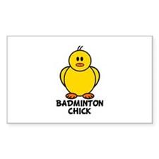 Badminton Chick Rectangle Decal