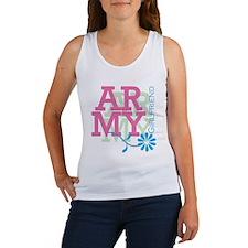 Army Girlfriend - Pink Women's Tank Top