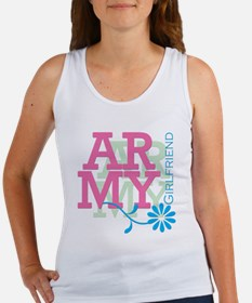 Army Girlfriend - Pink Women's Tank Top