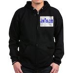JewTee.com Zip Hoodie (dark)