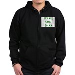 IT'S ALL GEEK TO ME Zip Hoodie (dark)