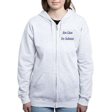 Hi to Life and Judaism Women's Zip Hoodie