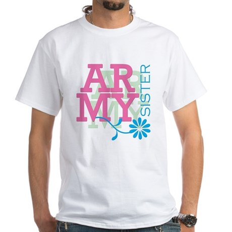 Army Sister - Pink White T-Shirt