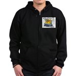 Toy Train Zip Hoodie (dark)