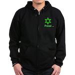 Proud Irish Jew Zip Hoodie (dark)