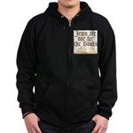 Jews are one for the Books Zip Hoodie (dark)