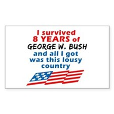 I Survived Bush... Country Rectangle Decal