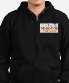 Shabbos It's About Time Zip Hoodie