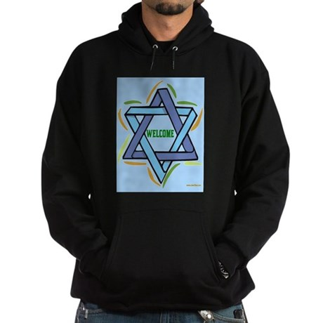 Welcome Sukkot Poster Hoodie (dark)