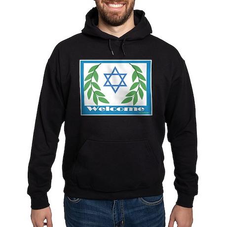 Jewish Welcome Star of David Hoodie (dark)