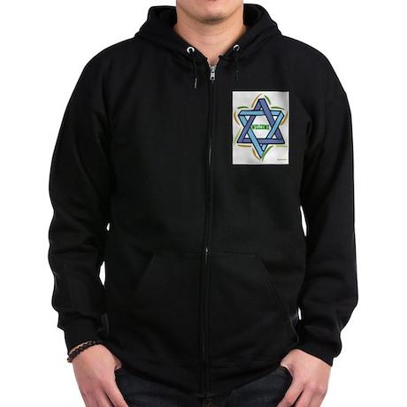 Sukkot Poster Welcome Zip Hoodie (dark)