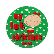 Cute Baby !st Chirstmas Ornament Girl