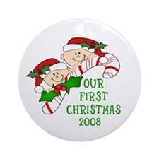 Twins First Chirstmas Ornament Dated 2008