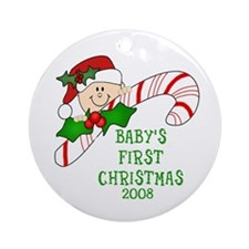 Baby's First Chirstmas Ornament Dated 2008